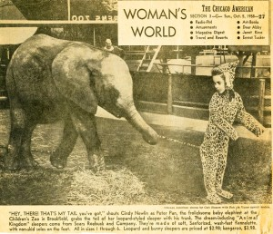 Cindy with young elephant